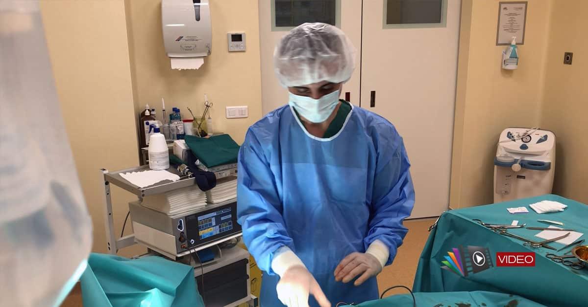 Histeroscopie cu rezecția polipilor endometriali și biopsie endometrială. Marsupializarea chistului bartholinian