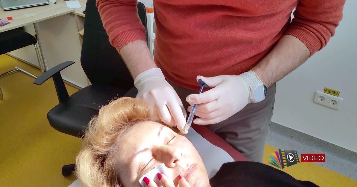 Chirurgie estetică - injectare de toxină botulinică și acid hialuronic